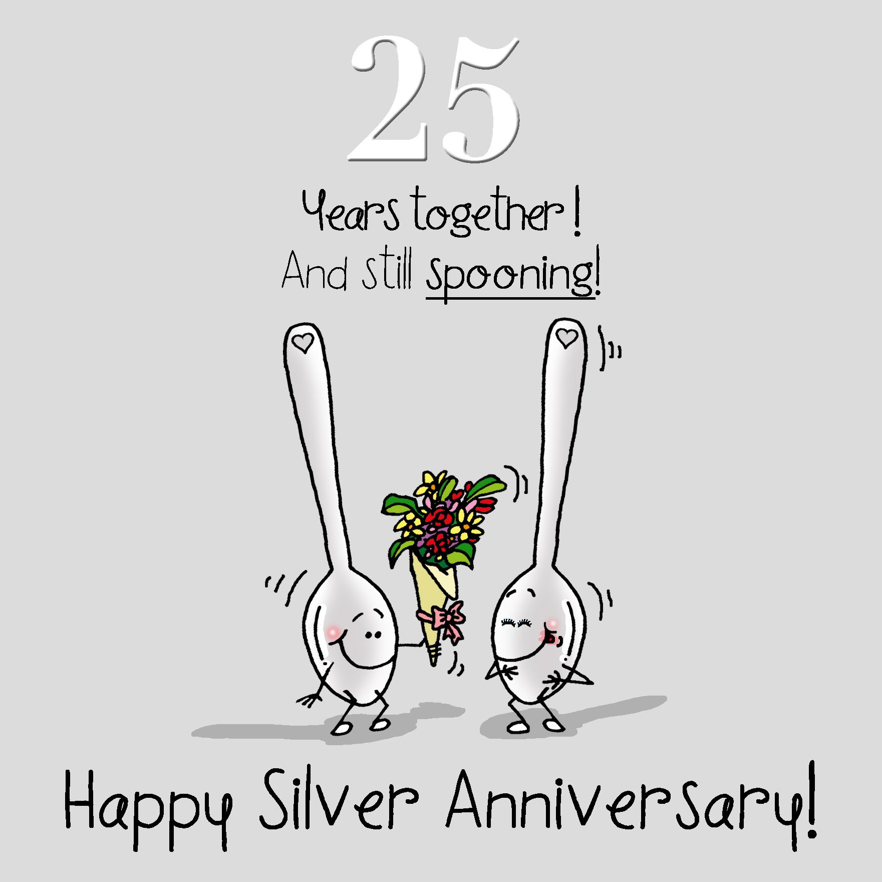 25th Anniversary Greetings Card Happy Silver Anniversary