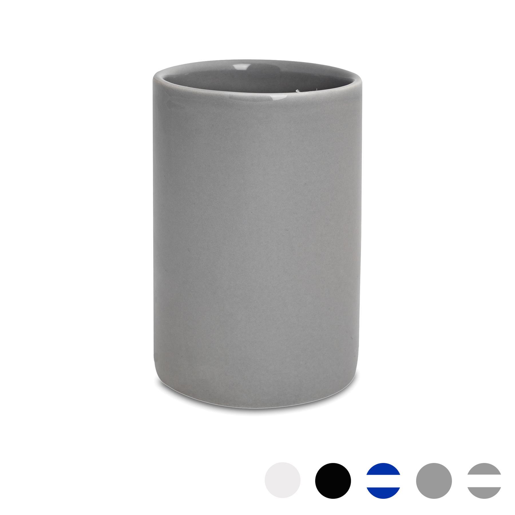 Bathroom Toothbrush Holder Tumbler Glazed Ceramic Porcelain Cup Stand Grey 5055512076079 Ebay
