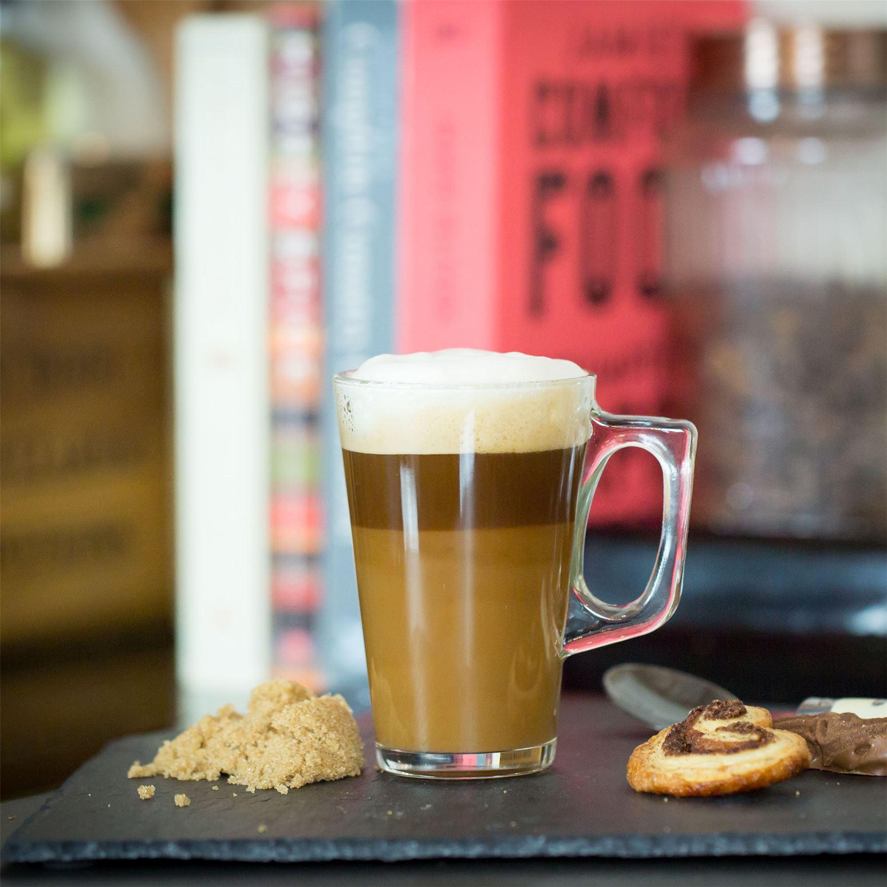 latte gl ser cappuccino glas tassimo costa kaffeetassen tassen 250ml x6 ebay. Black Bedroom Furniture Sets. Home Design Ideas