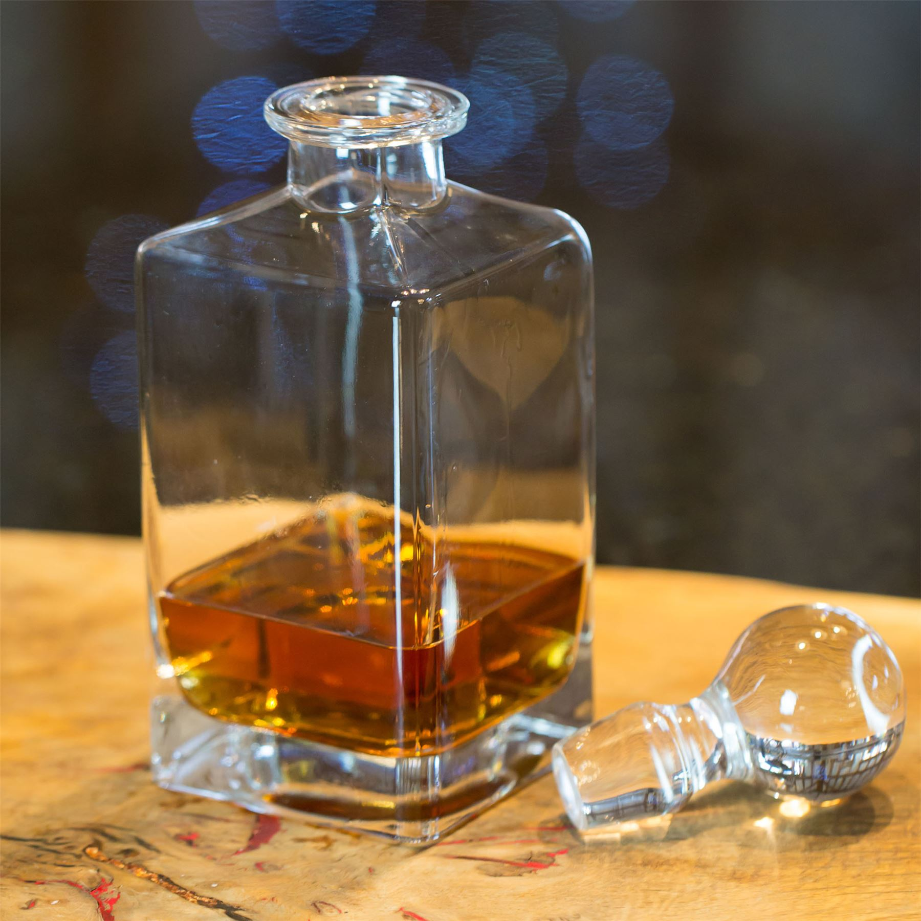 Crystal Whiskey Bar Set Decanter Glass Bourbon Scotch 6 ... |Whisky Bottle With Glass