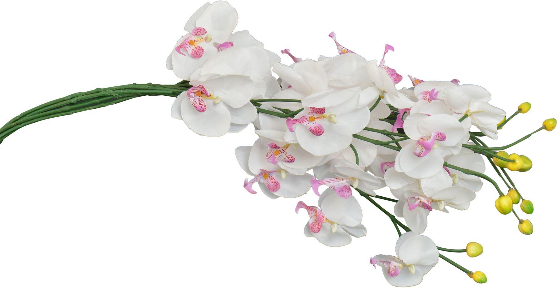 Artificial Long Stem Orchid Flower Plants White Pink 76cm