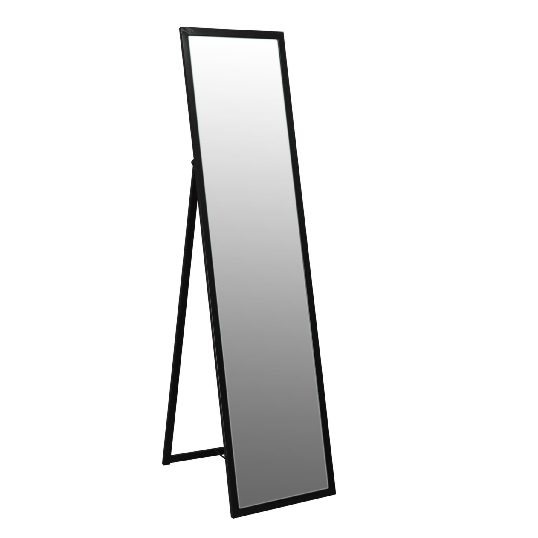 Espejo de pie espejo de cuerpo entero orientable con marco for Espejos de cuerpo entero con pie