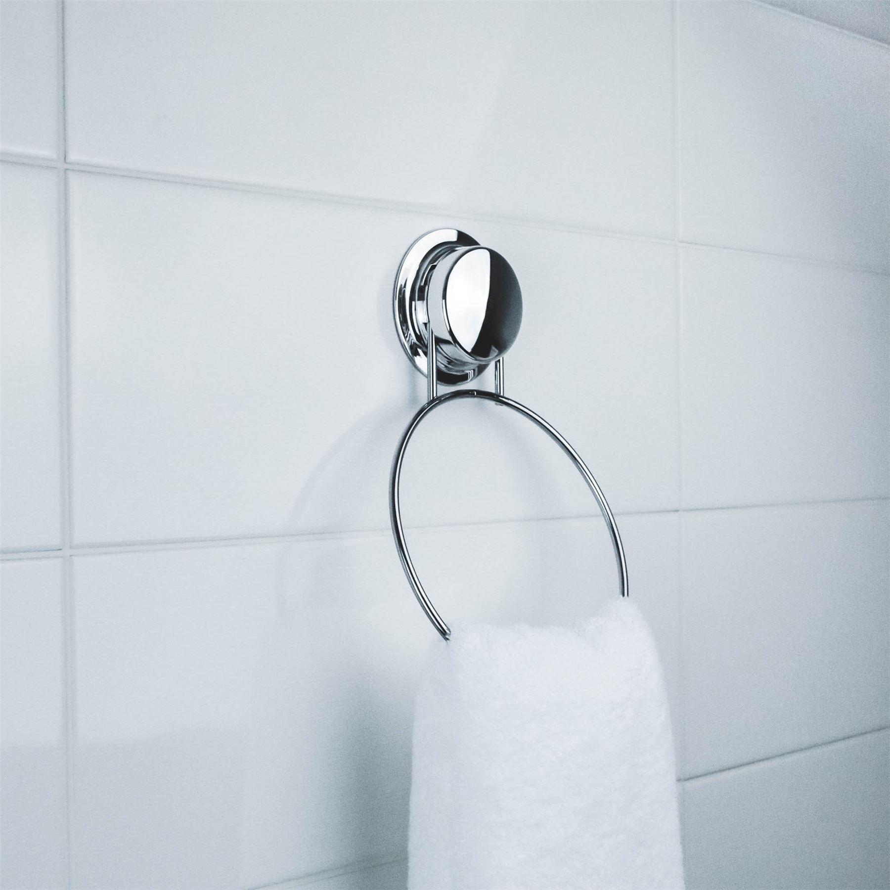 Bathroom Towel Ring U0026 Toilet Roll Holder U0026 Double Towel / Dressing Gown  Hook Set