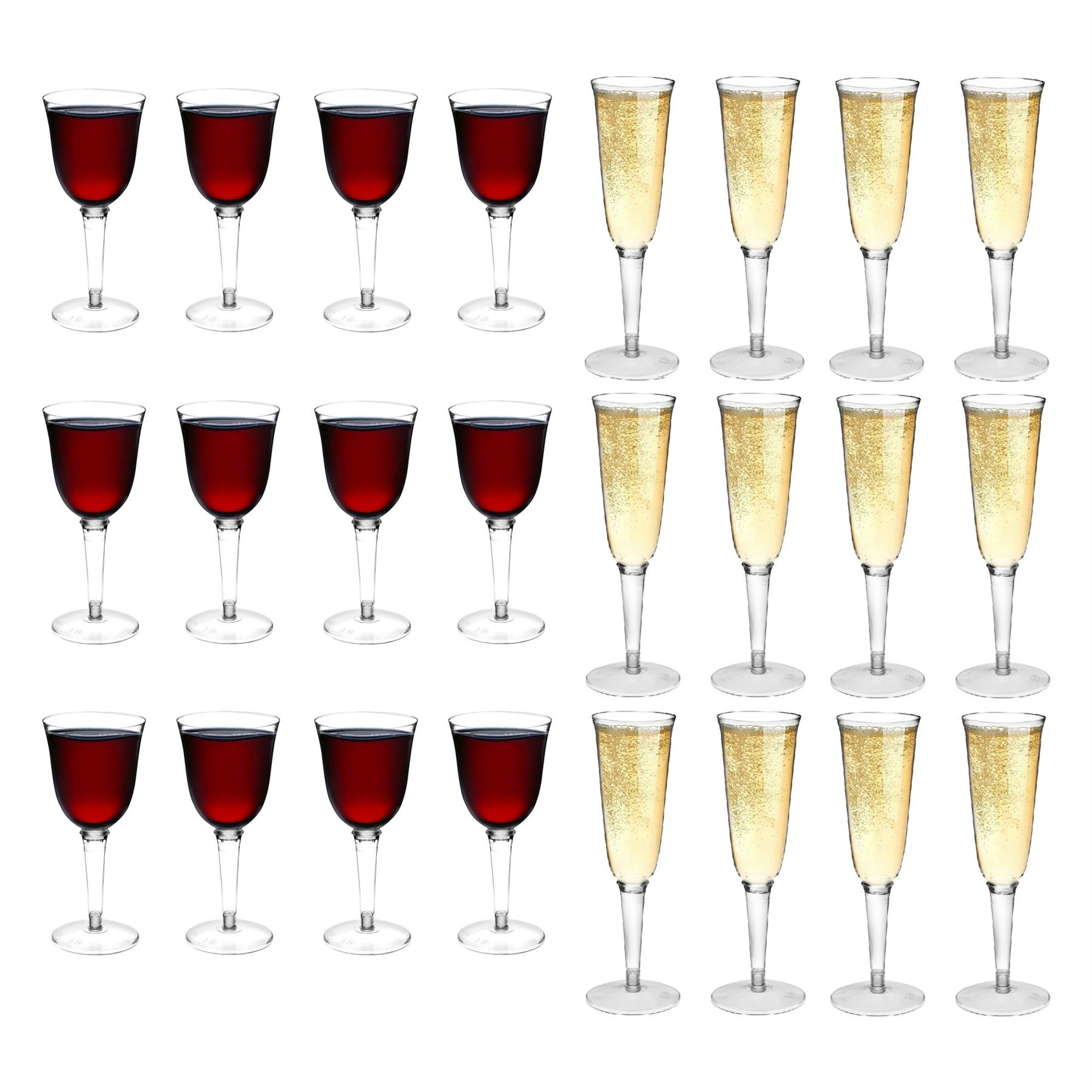 Plastic outdoor champagne flutes wine glasses strong for How strong is acrylic glass