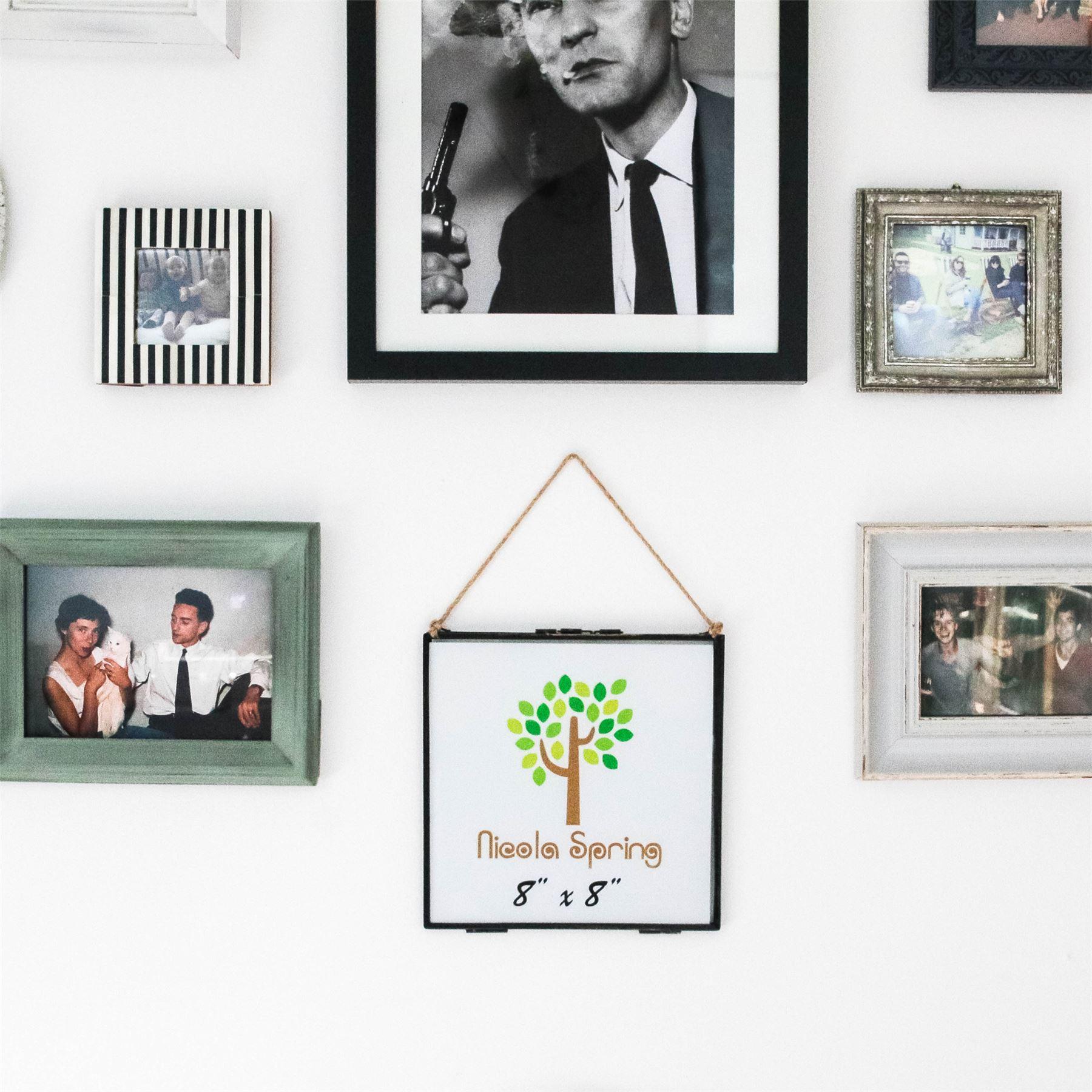 cadre photo accrocher vintage cadre photo en metal et. Black Bedroom Furniture Sets. Home Design Ideas