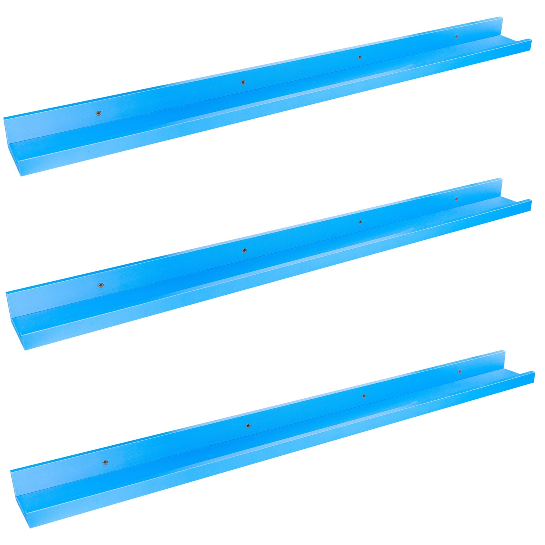 91.5cm Children/'s Bedroom Bookshelf Floating Nursery Gallery Shelf x3 Blue