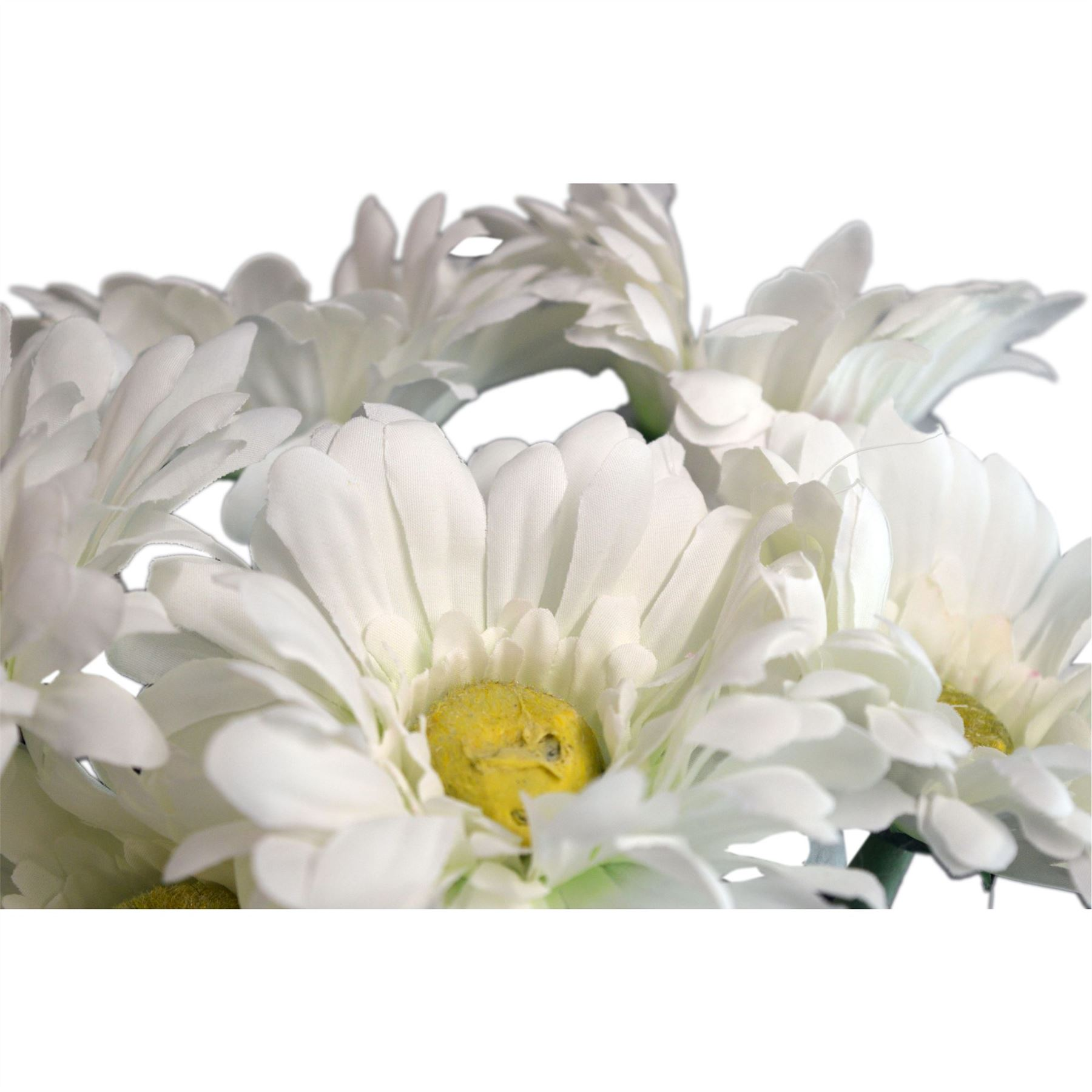 Artificial long stem gerbera flower plant in white 54cm x6 stems artificial long stem gerbera flower plant in white 54cm x6 stems mightylinksfo
