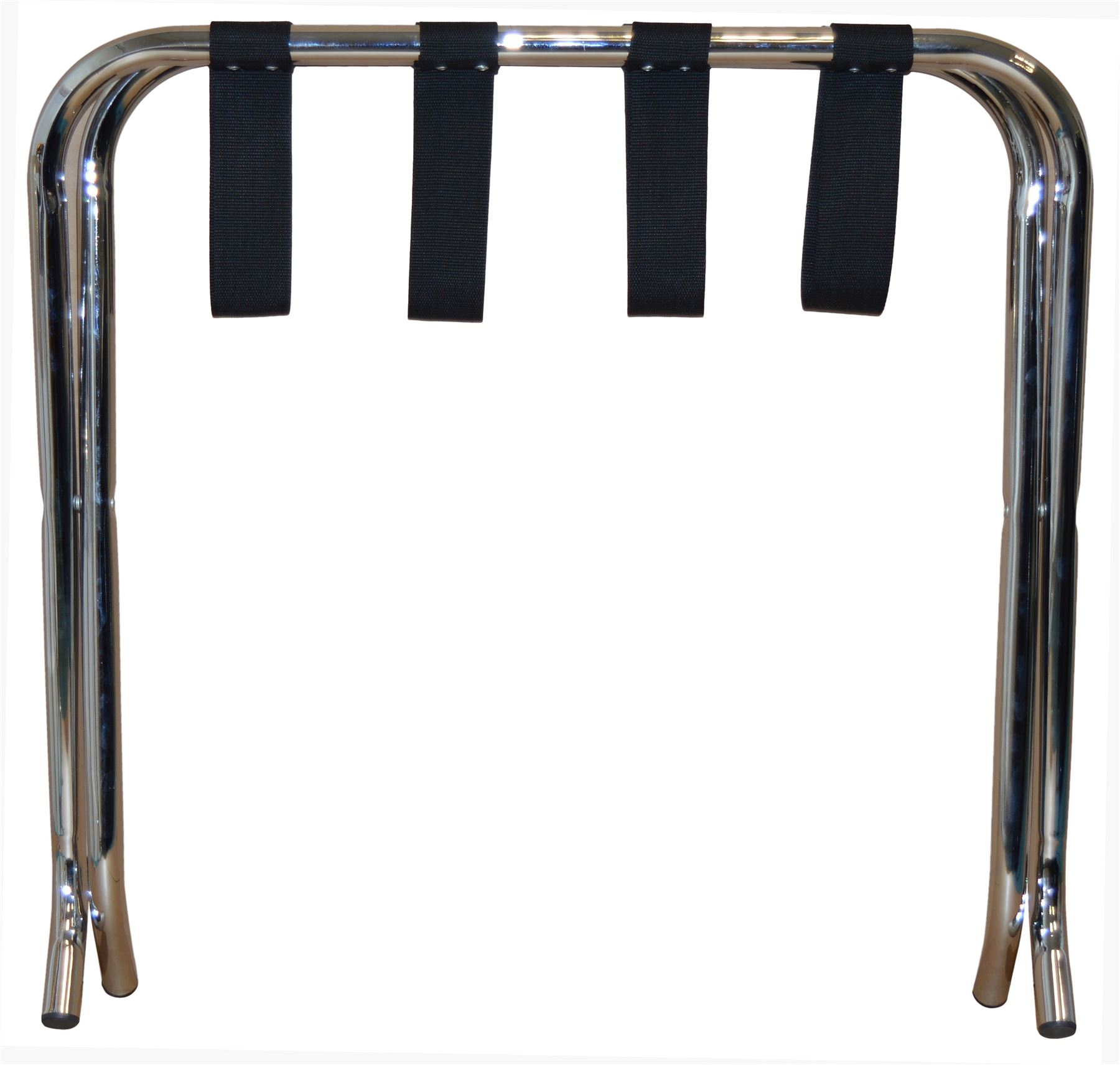 Folding Metal Hotel Luggage Suitcase Rack Stand Chrome