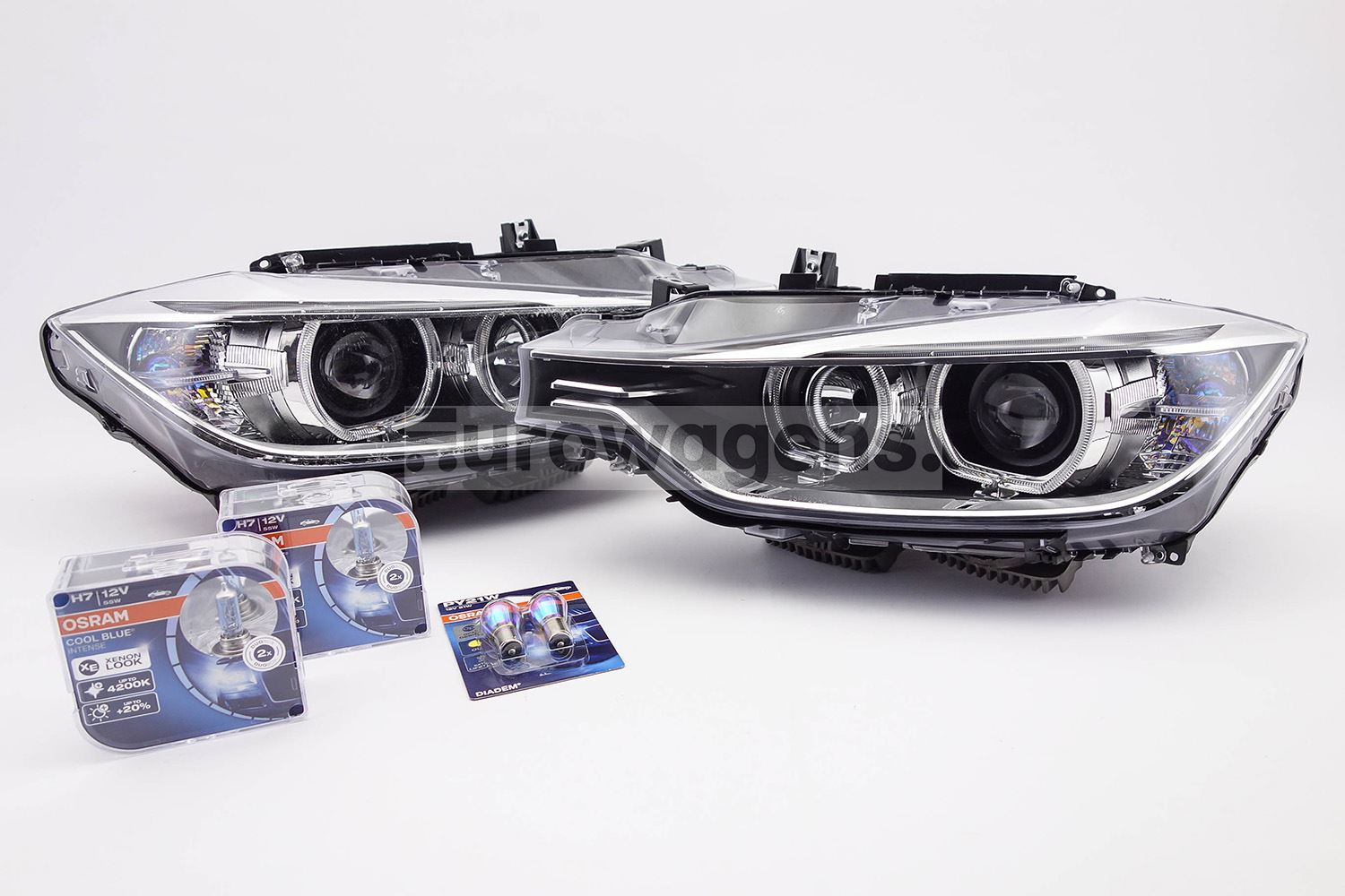 Bmw 3 Series F31 11 15 Xenon Look Headlights Set With
