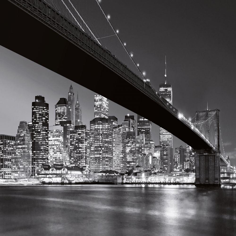 W+G Wall Mural Brooklyn Bridge New York Photo Poster Wallpaper Decor ...