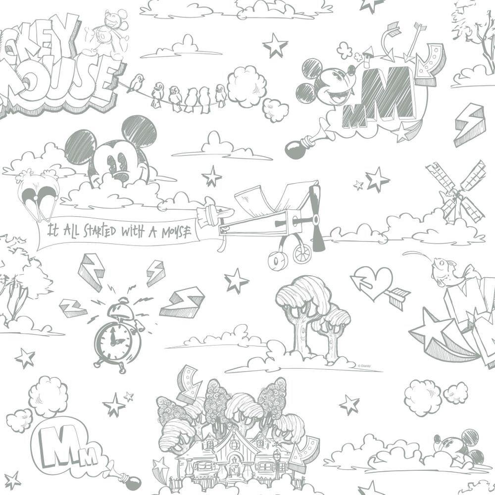 Nuevo Oficial Disney Mickey Mouse Patrón Lápiz Dibujos Animados