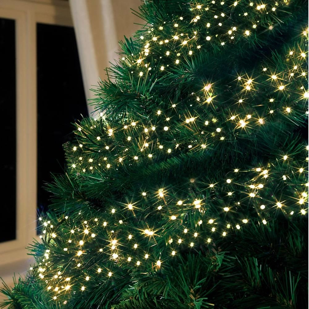 Warm White Multi Action Led Cluster Lights Christmas Tree Xmas Outdoor Indoor Ebay