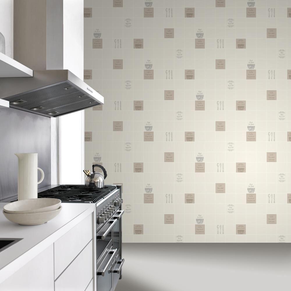 neue rasch kachel muster kaffee restaurant k che abwaschbare vinyl tapeten ebay. Black Bedroom Furniture Sets. Home Design Ideas