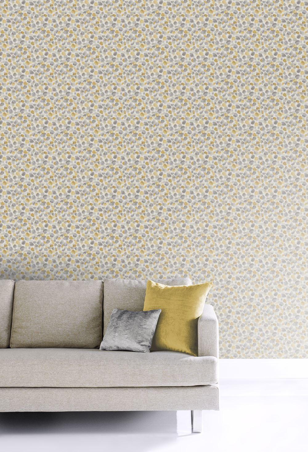 Papier Peint Jaune Moutarde détails sur arthouse peint pois moutarde jaune lin effet lisse contemporain  papier peint