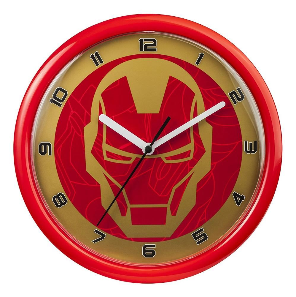 Marvel avengers iron man character red round hanging kids bedroom marvel avengers iron man character red round hanging kids bedroom wall clock amipublicfo Images