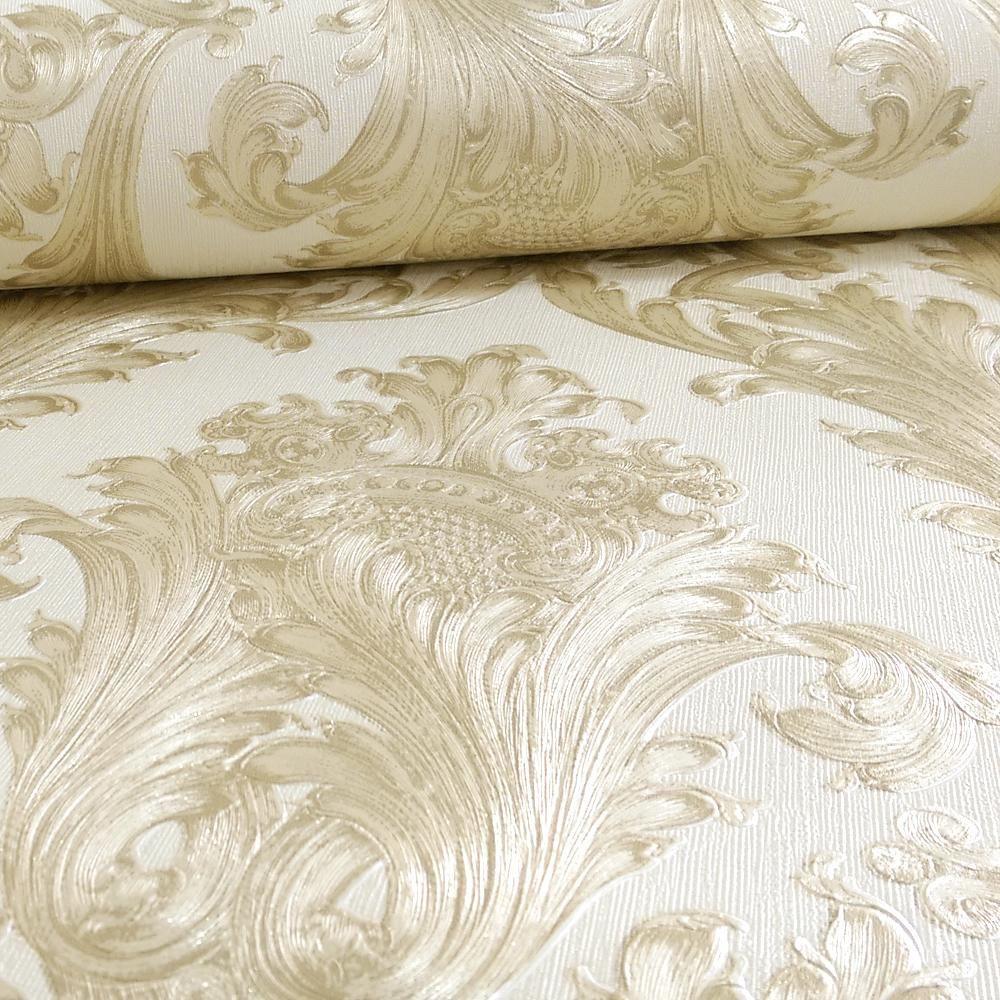 Arthouse Vintage Figaro Italian Damask Pattern Textured
