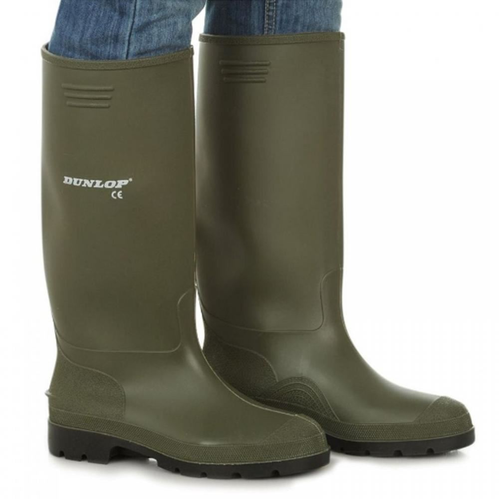 Dunlop Pricemaster Mens Green Wellies Waterproof