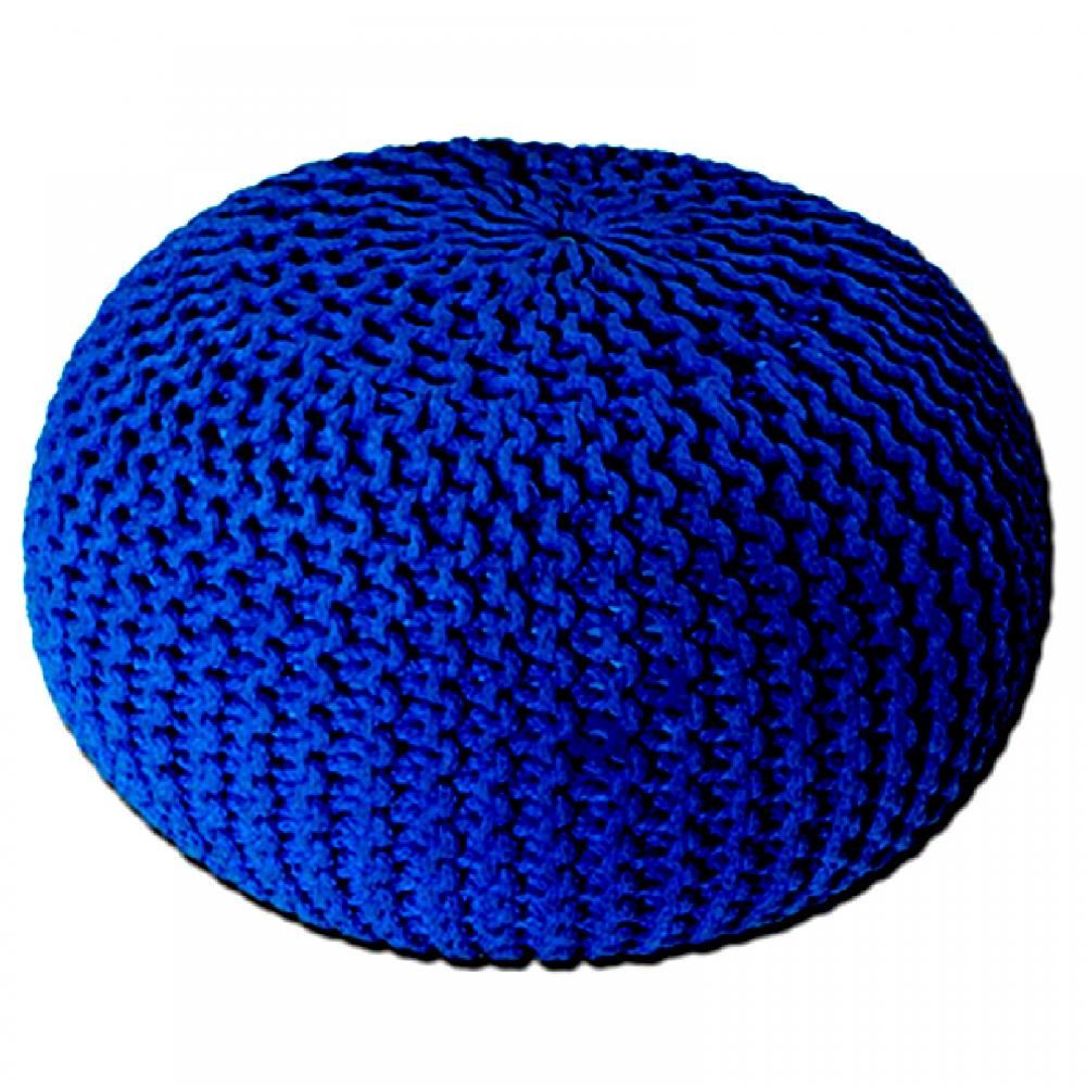 Large 50cm Round Cotton Knitted Pouffe Ball Foot Stool