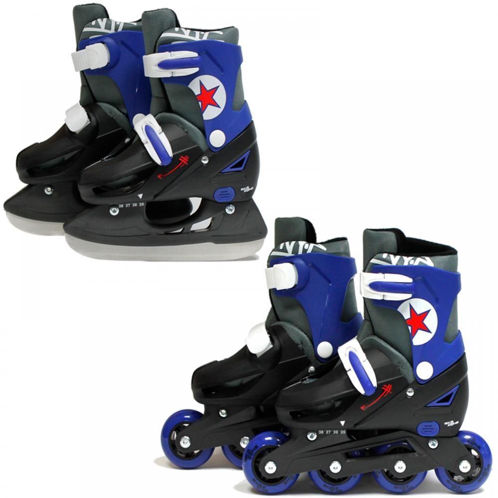 sk8 zone 2in1 inline pro roller skates ice skating boots. Black Bedroom Furniture Sets. Home Design Ideas