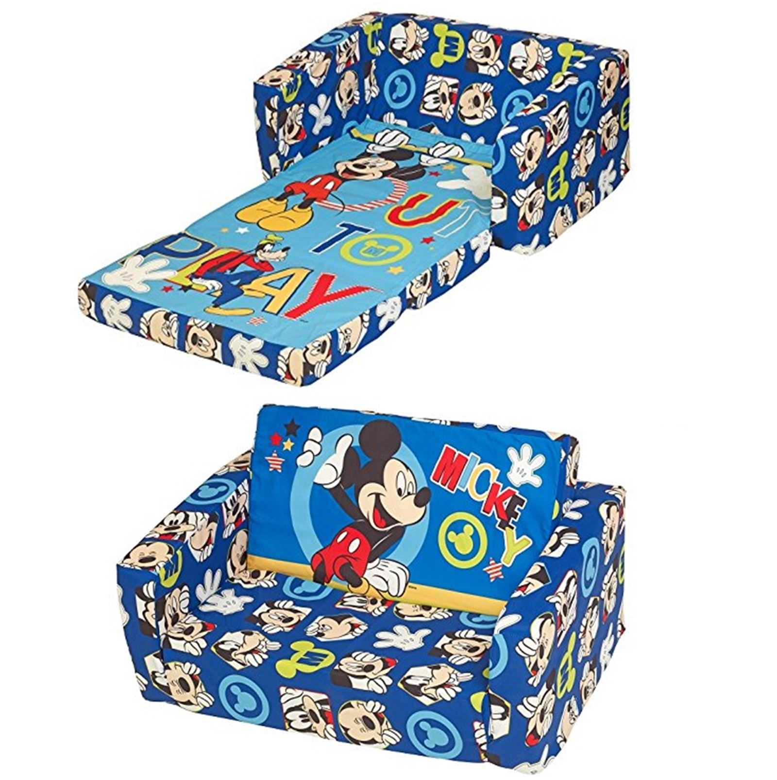 Beau Disney Childrens Flip Out Double Foam Sofa Settee