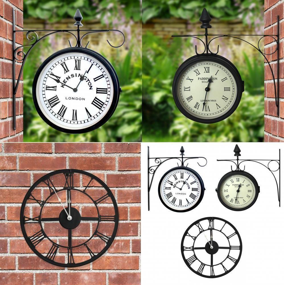 Decorative retro round metal outdoor garden patio wall clock decorative retro round metal outdoor garden patio wall clock vintage ornament amipublicfo Choice Image