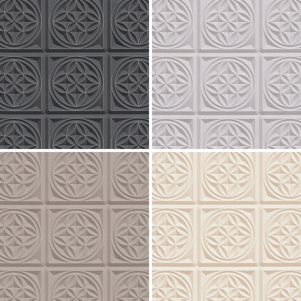 As creation oslo azulejo patr n de papel tapiz efecto for Papel pintado imitacion azulejo