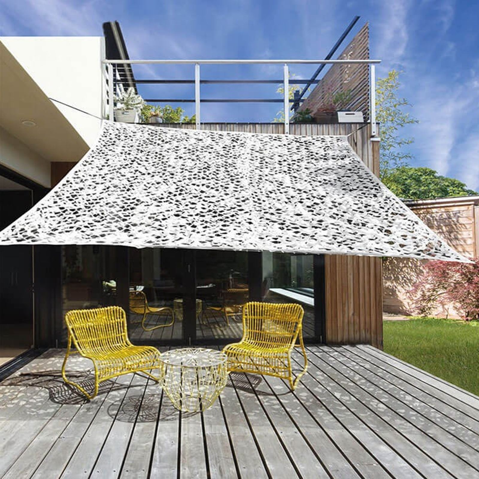 Outdoor Camouflage Sun Shade Sail Canopy Cover Cloth Awning Windbreaker 2 X 3m Ebay