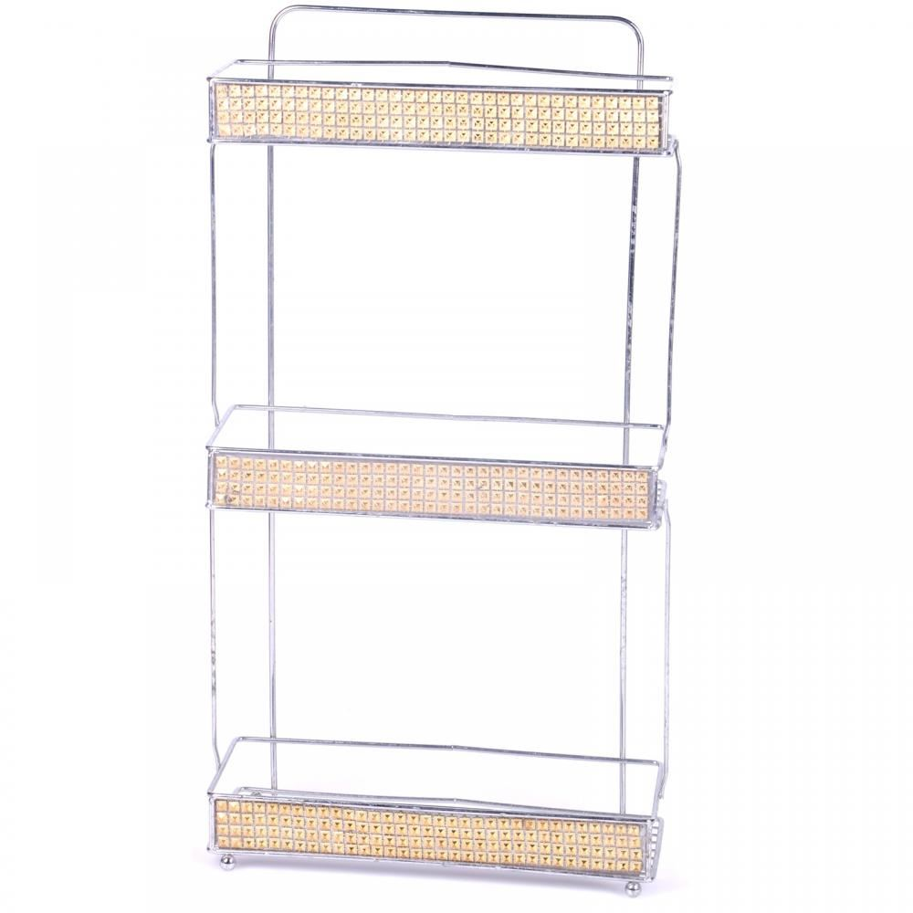 Chrome Gold 3 Tier Bathroom Hanging Shower Caddy Storage Rack ...