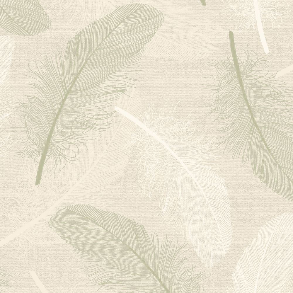 Holden Maisey Feather Pattern Wallpaper Leaf Glitter Motif
