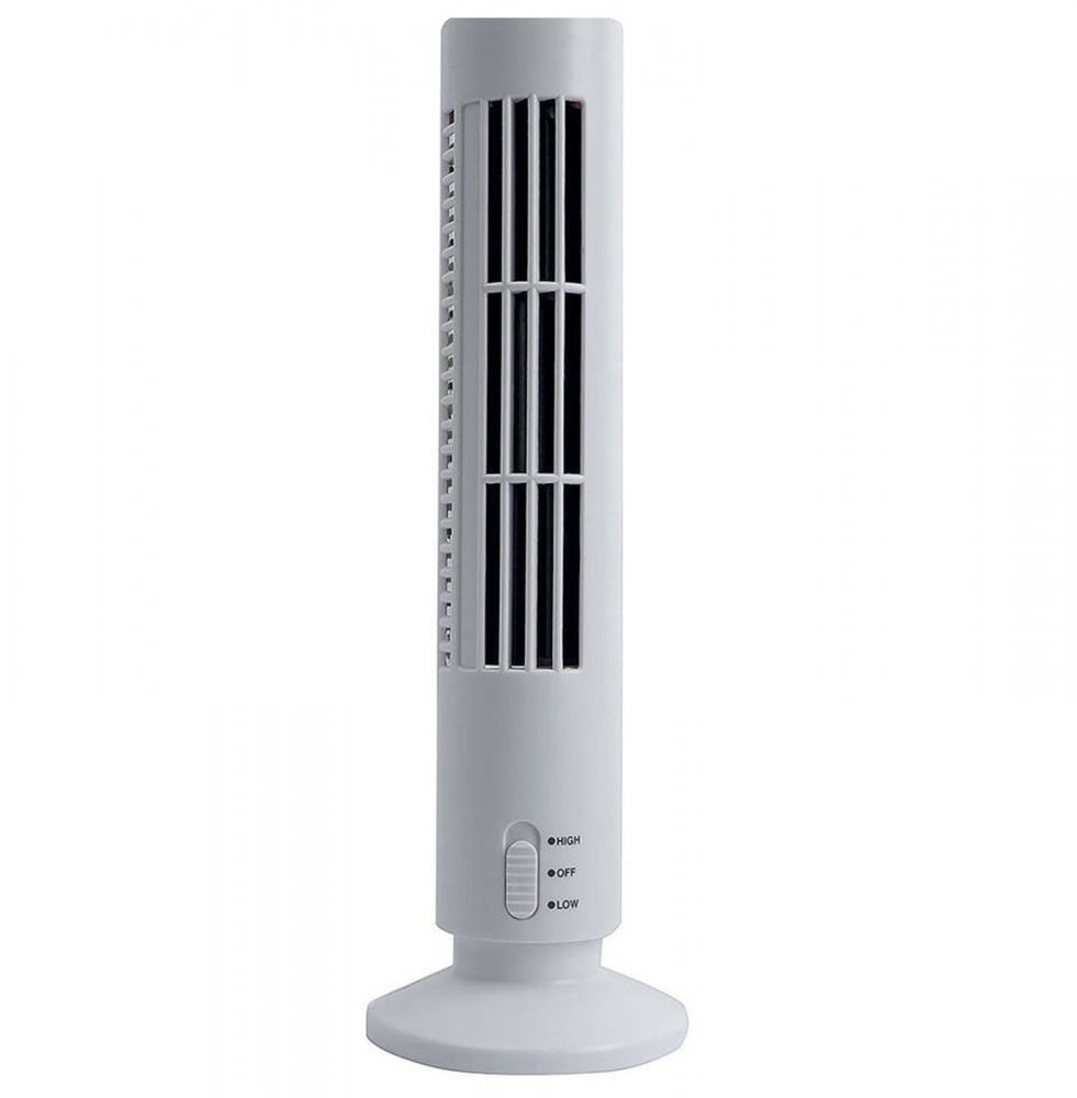 Portable Mini Usb Tower Fan Cooling Bladeless Air Conditioner For Pc Laptop Desk Ebay