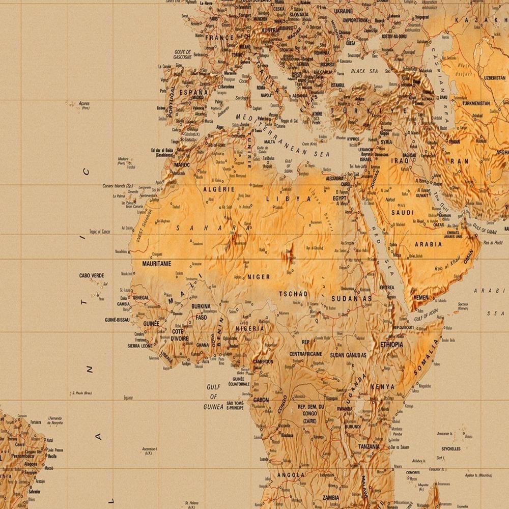 W+G Wall Mural The World Map Atlas Photo Poster Wallpaper Decor Art ...