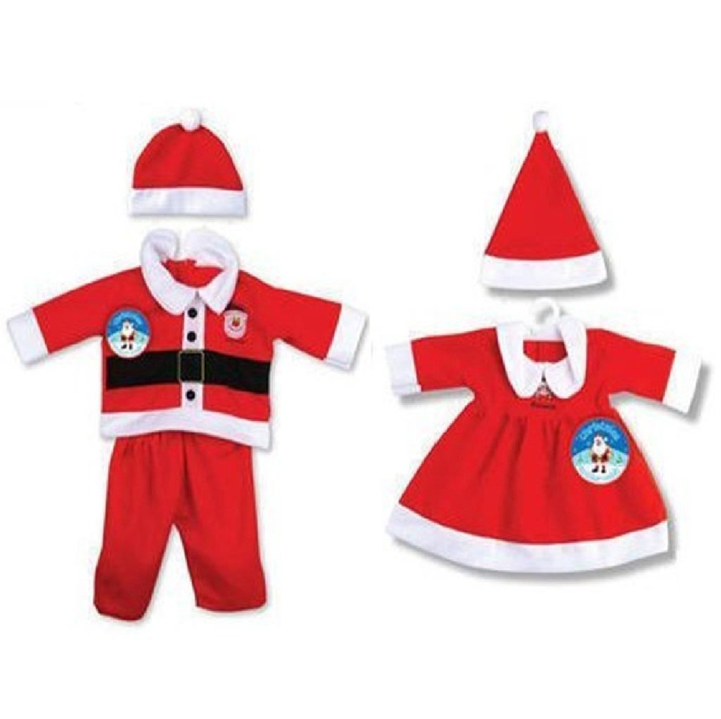 TODDLER BABY CHRISTMAS SANTA XMAS OUTFIT FANCY DRESS COSTUME GIRLS ...