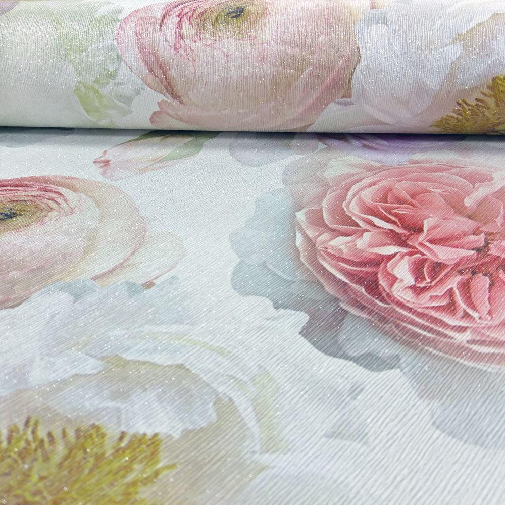 Arthouse Diamond Bloom Floral Pattern Wallpaper Rose Flower Glitter ...