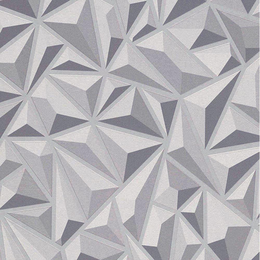 Erismann g om trique triangle motif papier peint 3d effet for Papier peint relief 3d