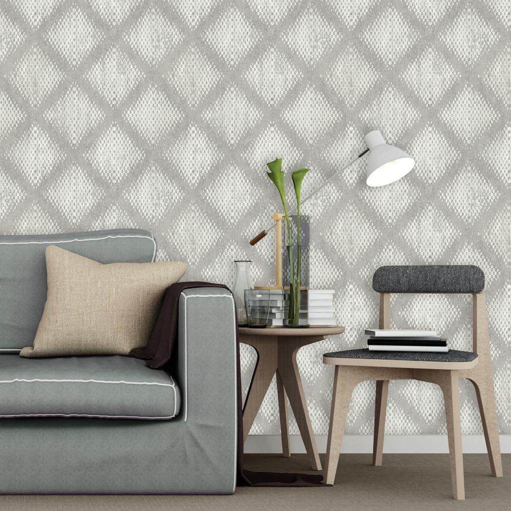 Muriva Lavelle Honeycomb Pattern Wallpaper Geometric