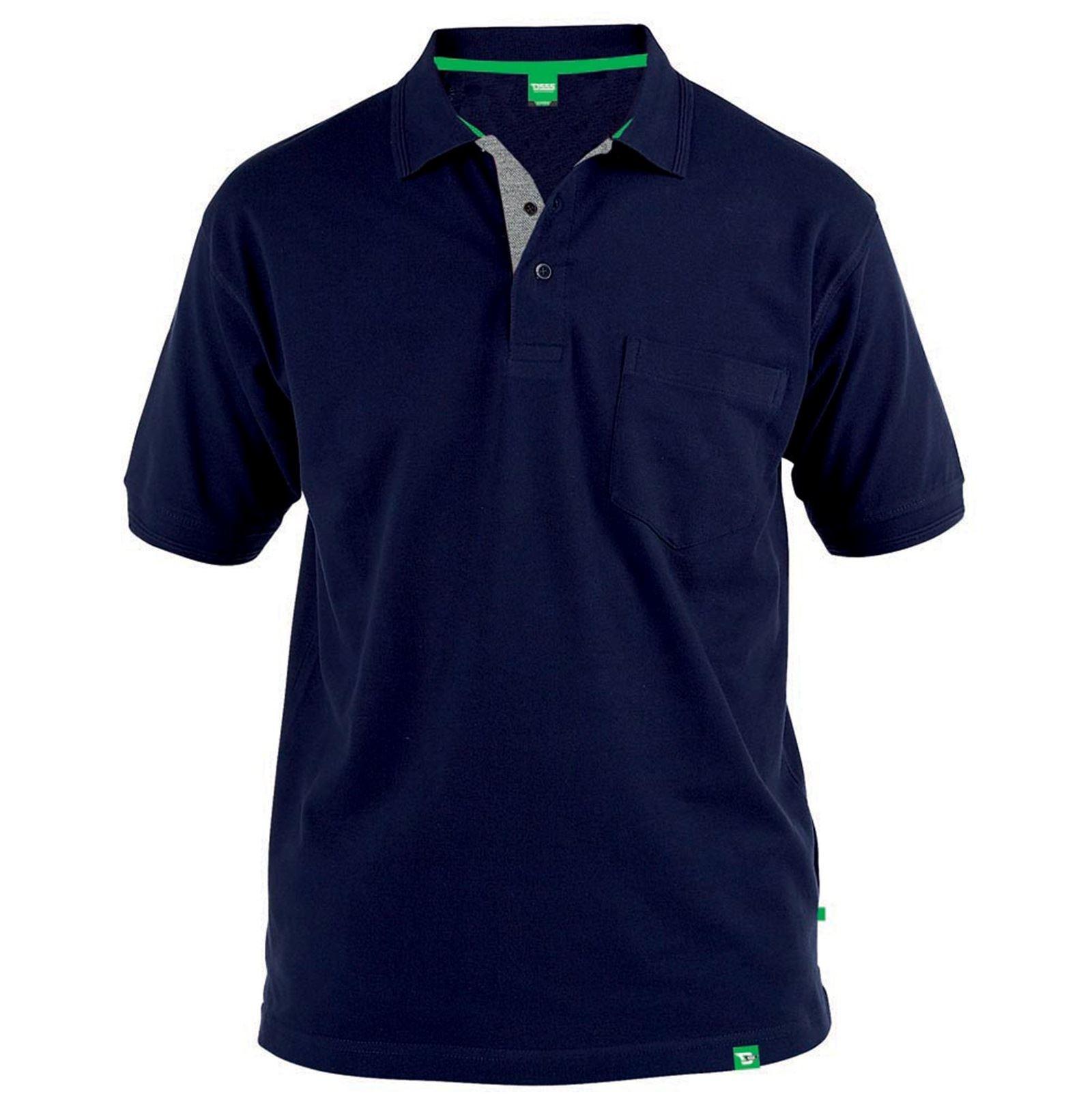 5f1d9b16a Duke D555 Mens Grant Big Tall King Plus Size Short Sleeve Pique Polo Shirt  Top