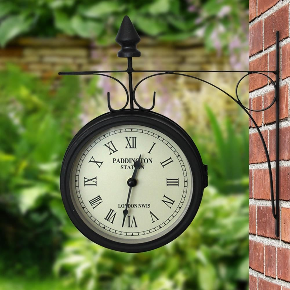 Decorative retro round metal outdoor garden patio wall clock decorative retro round metal outdoor garden patio wall amipublicfo Choice Image