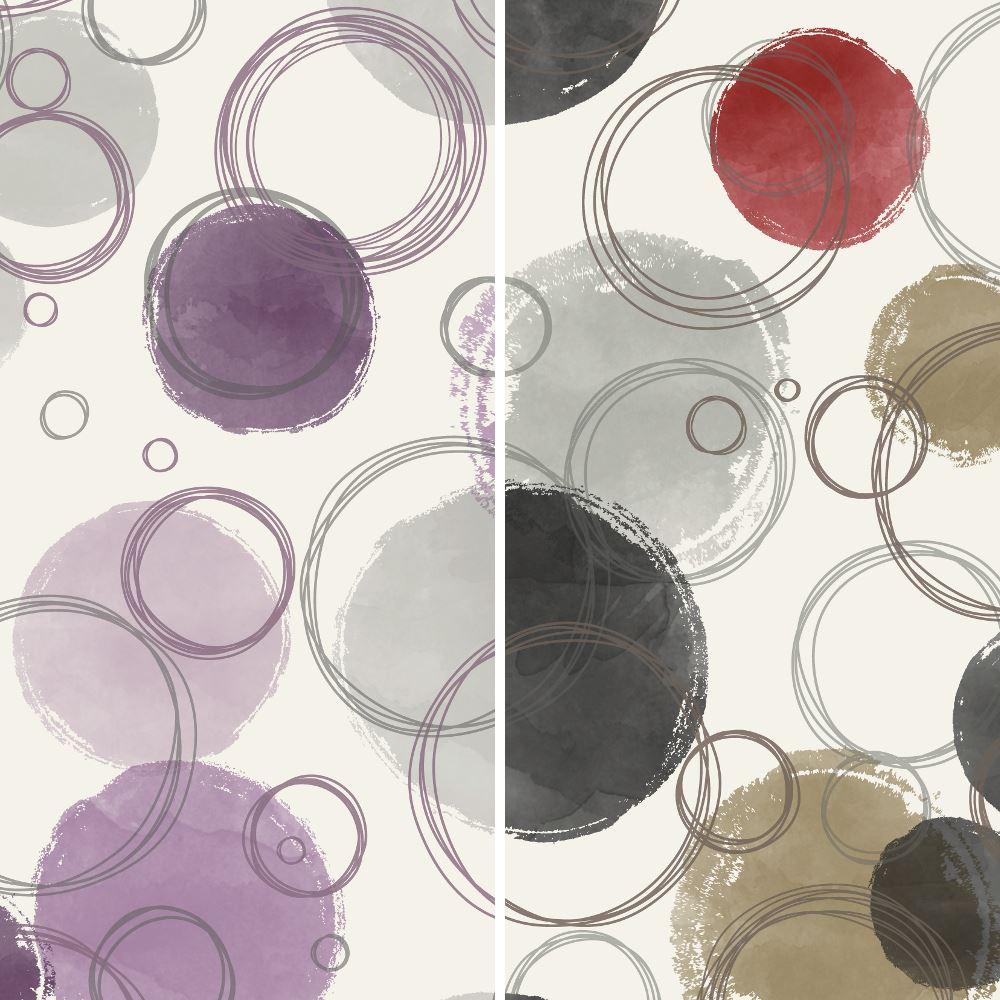 Circle Wallpaper: Grandeco Circle Pattern Wallpaper Geometric Spots Metallic