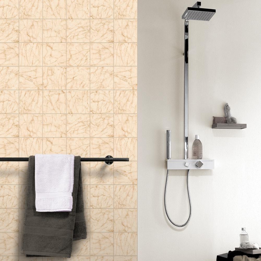 Carrelage Marbre Salle De Bain détails sur rasch marbre carrelage motif papier peint réaliste cuisine  salle de bain en relief rouleau- afficher le titre d'origine