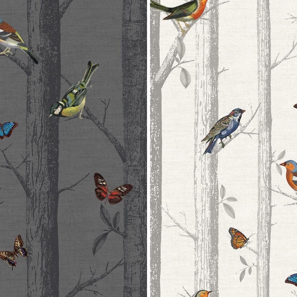 Holden Epping Forest Pattern Wallpaper Modern Bird