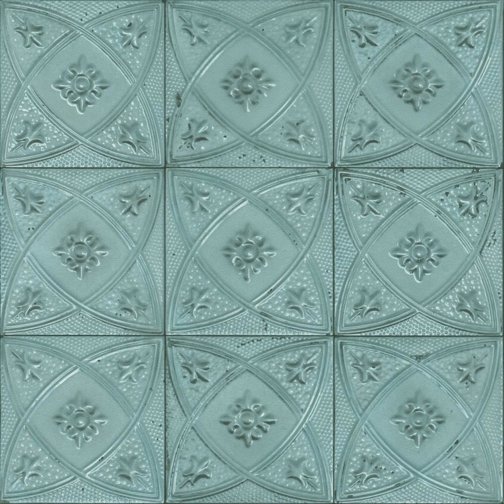 Rasch Ceramic Tile Pattern Wallpaper Floral Circle Motif Realistic ...