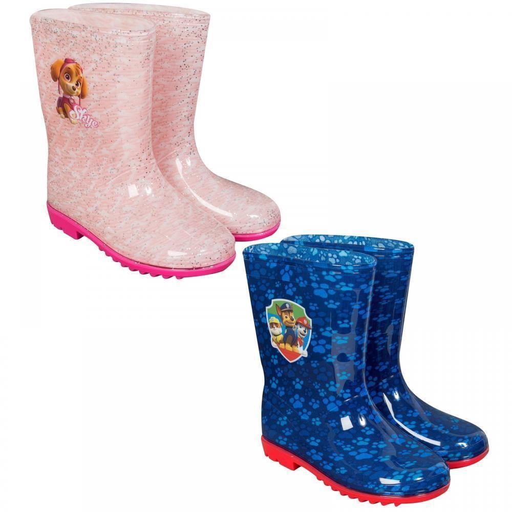 Détails sur Paw Patrol Bottes en Caoutchouc Chaussures Enfants Filles Garçons Rose Bleu