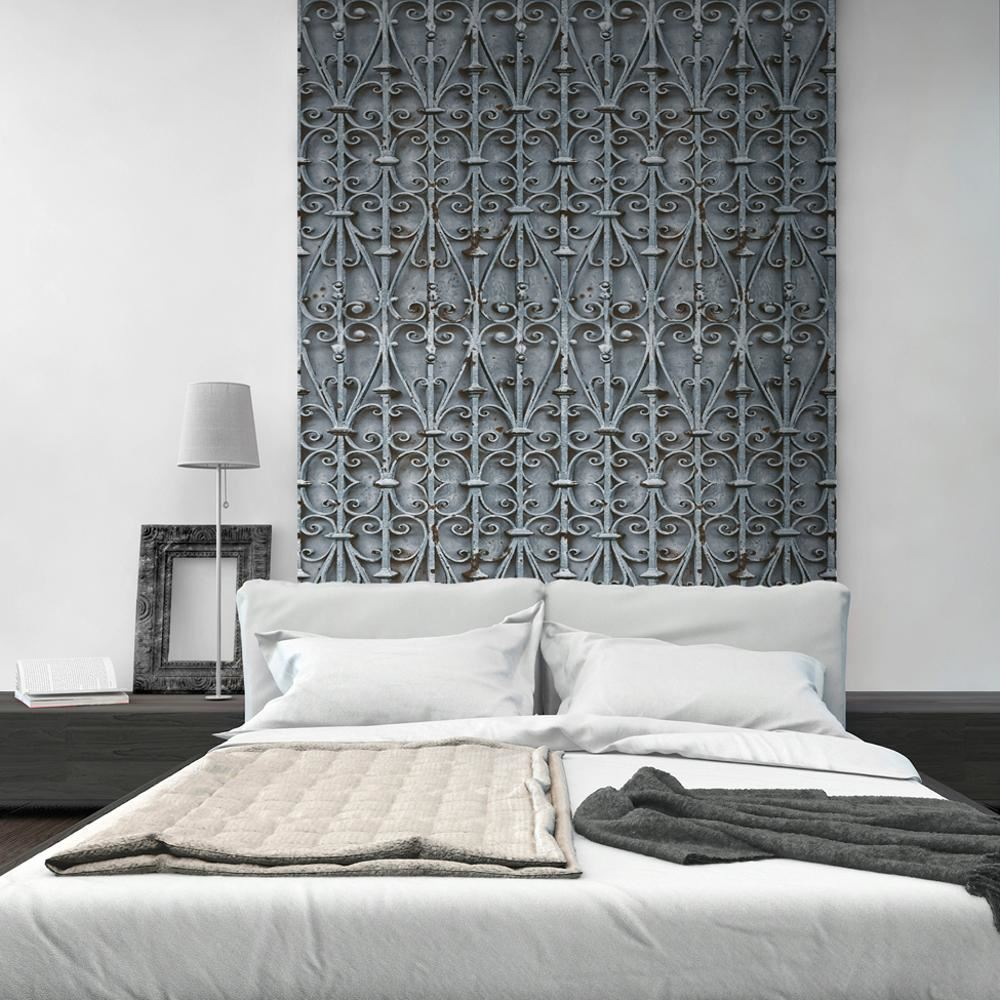 Modern Trellis Wallpaper: Muriva Iron Trellis Pattern Wallpaper Modern Realistic