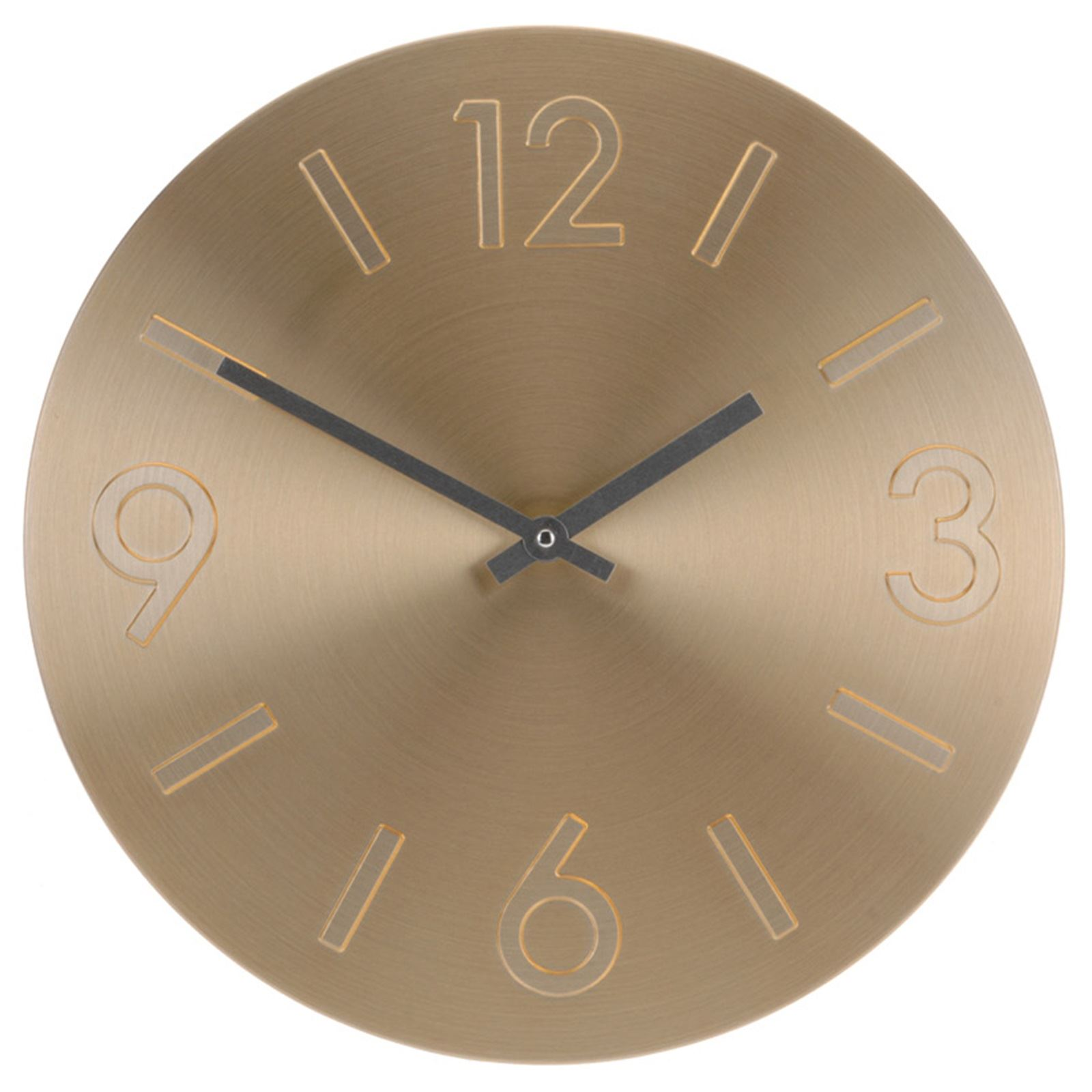 Large round aluminium wall clock modern number time kitchen bedroom display new