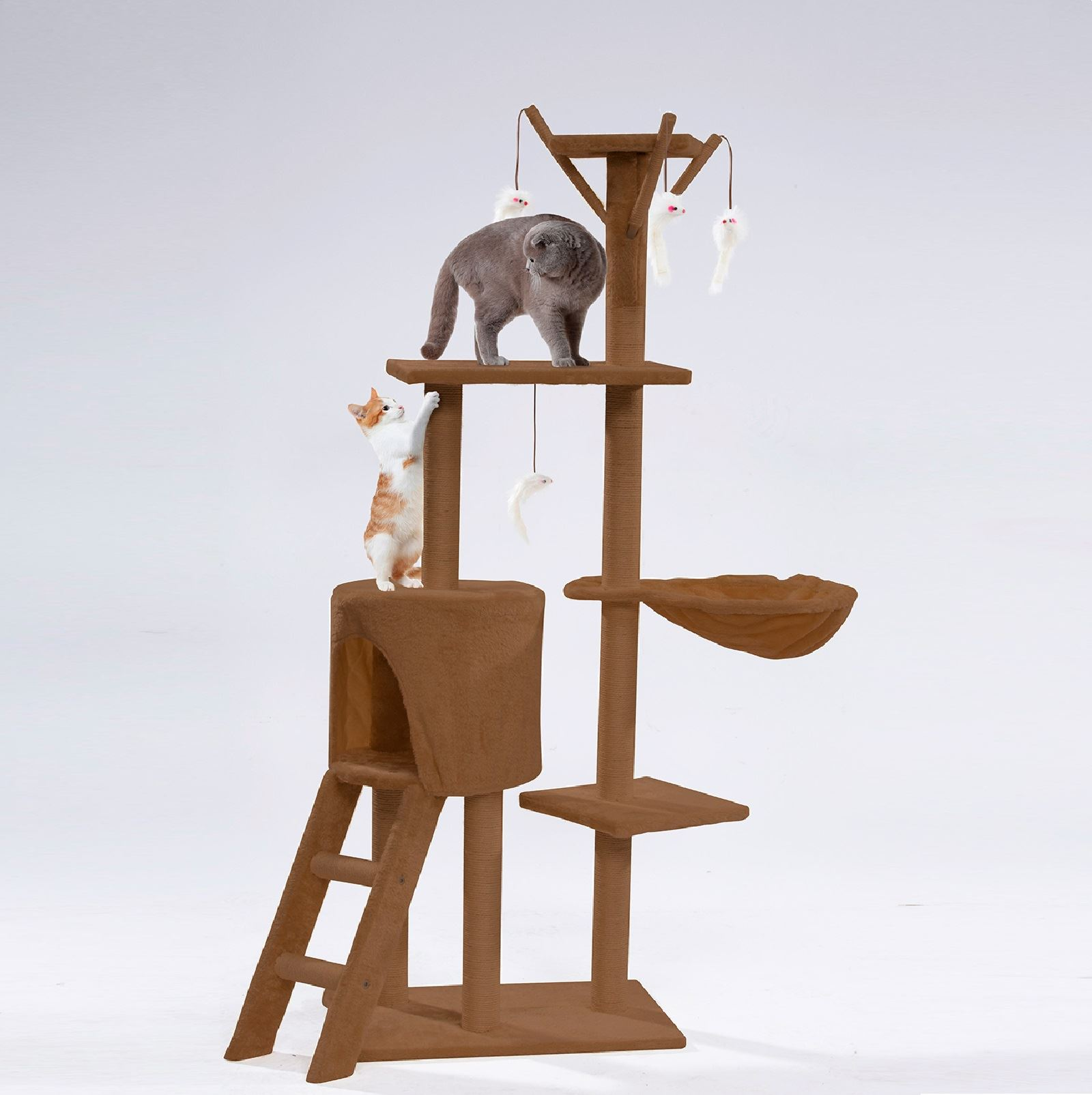 Cat Tree Scratching Climbing Post Ladder Jumping Sleeping