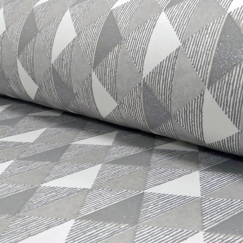 New rasch harlequin triangle stripe pattern kitchen for Striped kitchen wallpaper
