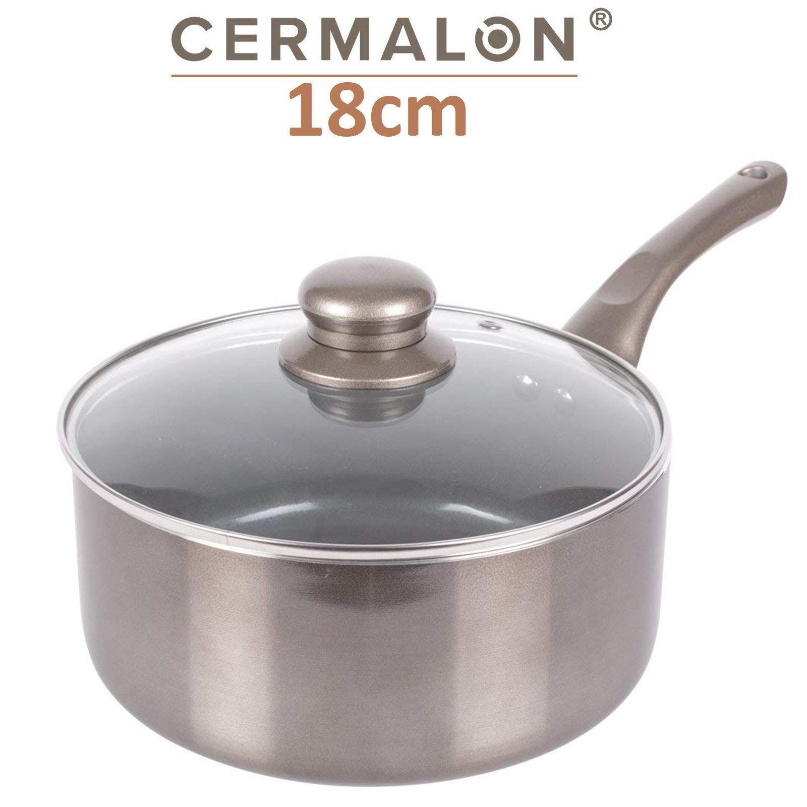Cermalon Induction Non Stick Saucepan Frying Fry Milk Pan