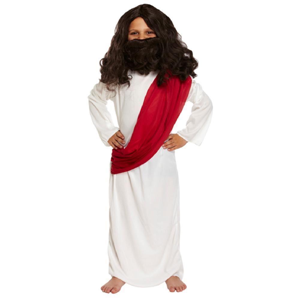 Childrens violet shepherd costume enfant noël nativité homme sage fancy dress