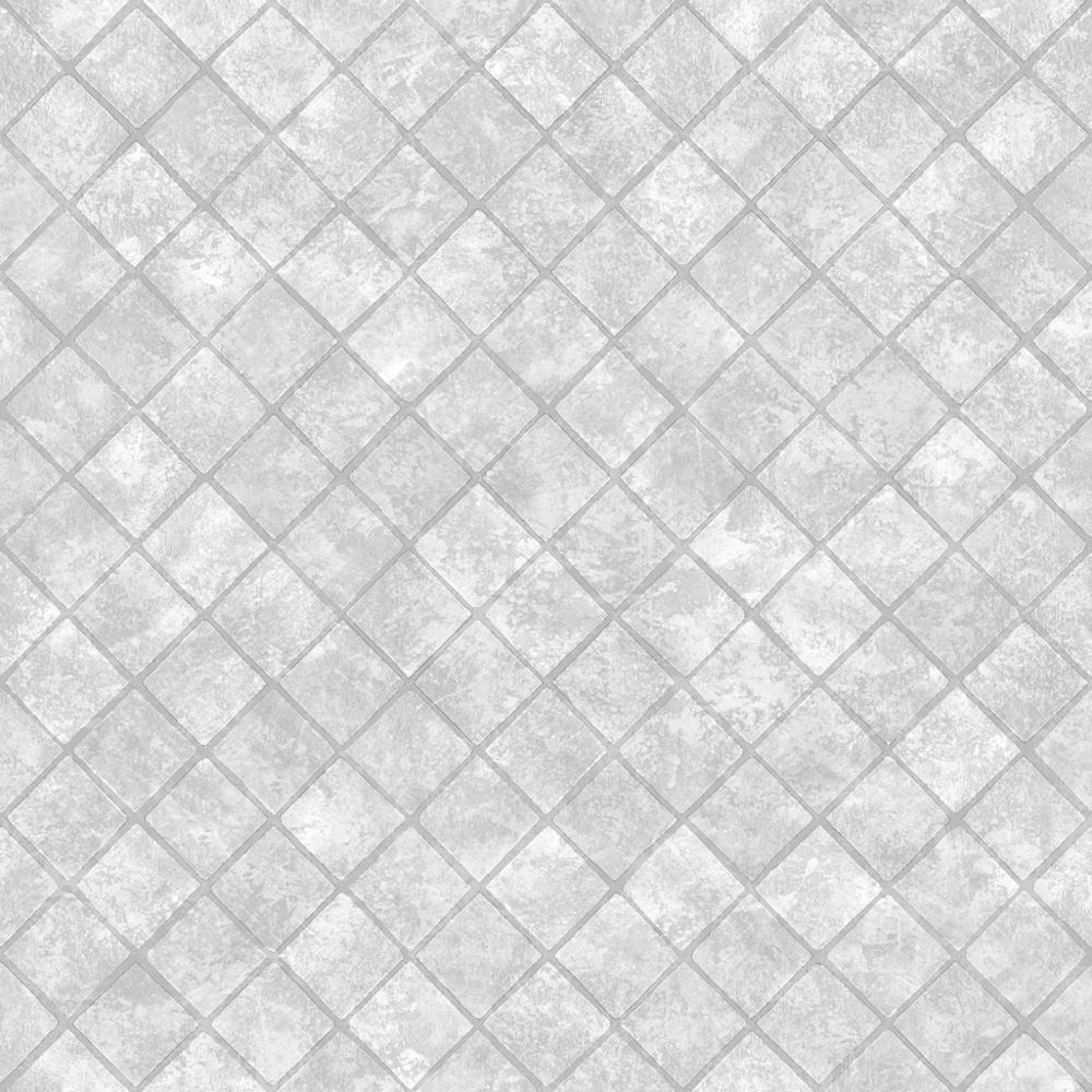 Muriva Tile Pattern Wallpaper Glitter Diamond Faux Effect Bathroom ...