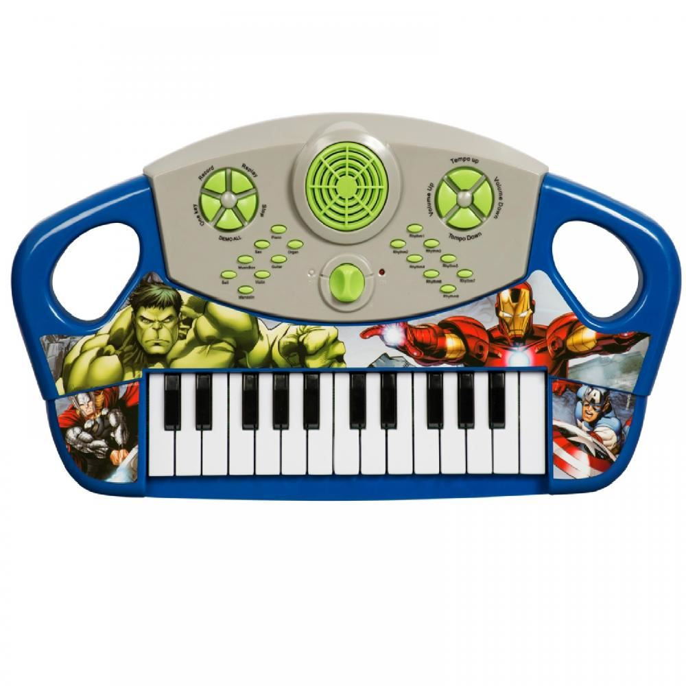 MARVEL-ELECTRONIC-KEYBOARD-MUSICAL-PIANO-KIDS-CHILDRENS-BOYS-TOY-INSTRUMENT-GIFT
